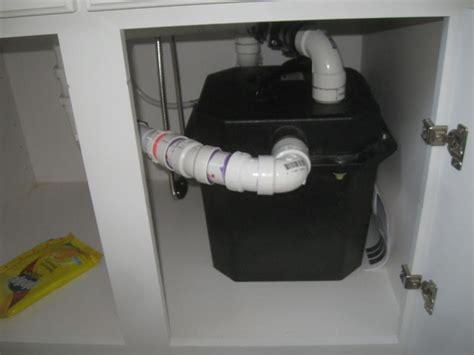 pre plumbed sink tray system sump pump basement kitchen sink pump plugged into gfci internachi