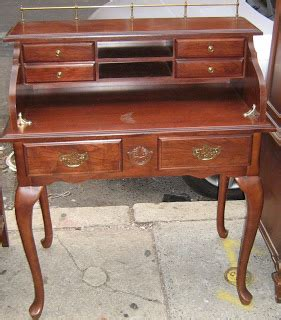 small cherry secretary desk uhuru furniture collectibles reproduction cherry wood