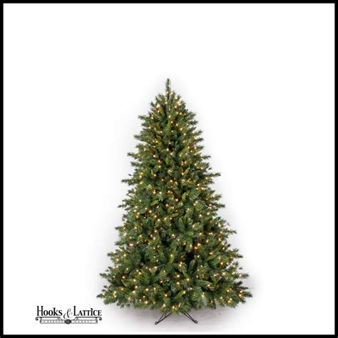 4 5 ft pre lit spruce artificial christmas tree white lights