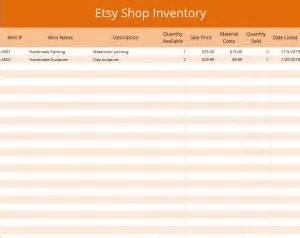 Small Business Excel Spreadsheet Excel Etsy Inventory Template