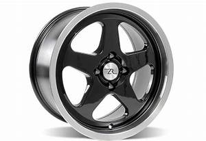 Ford Mustang SC Wheel - 17X9 Black with Machined Lip (94-04), LRS-1007SCL - Steeda