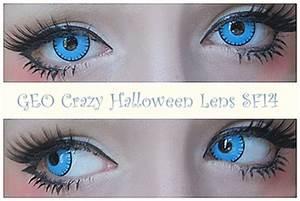 Pics For > Bright Blue Contact Lenses