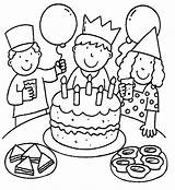 Coloring Birthday Google Coloringpages1001 sketch template