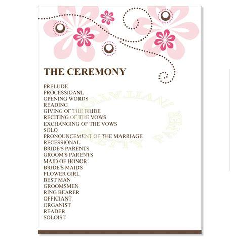 Bridal Shower Program Bridal Shower Itinerary Template Ba Wedding Reception Program Www Imgkid The Image Kid