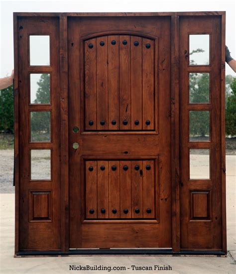 rustic front doors rustic tuscany knotty alder entry doors with sidelights
