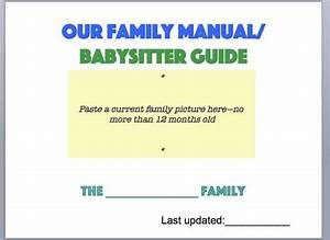 Family Manual   Babysitter Guide