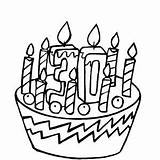 Birthday Cake 30th Coloring Happy Pages George Printable Curious Freeprintablecoloringpages sketch template