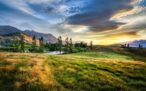 New Zealand Mountains Landscape