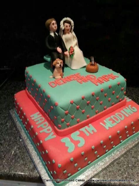 coral  jade  wedding anniversary celebration cake