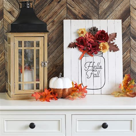 Diy Fall Decor Mason Jar Sign Thecraftpatchblogcom