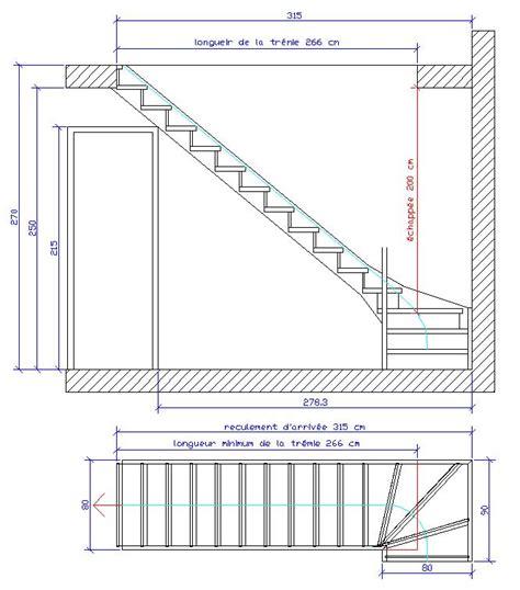 Escalier Colimaçon Dimension Minimum by Calcul D Un Escalier Multi Volees