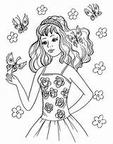 Coloring Pages Teen Template Teenagers Colouring Templates Pdf Printable Sheets раскраски девочка Easy Visit Drawings sketch template