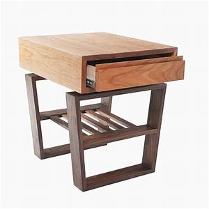 Buy a handmade mid century modern styled cherry and walnut for Modern cherry coffee table