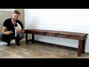 The 20 Farmhouse Bench Easy DIY Project YouTube