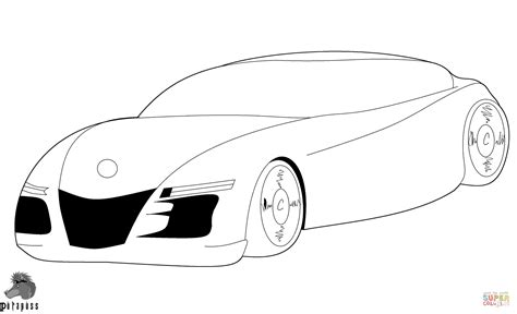 super car coloring page  printable coloring pages