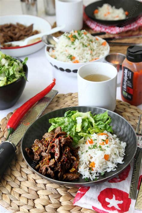 cuisine chinoise au wok boeuf séché à la chinoise au wok le miam miam