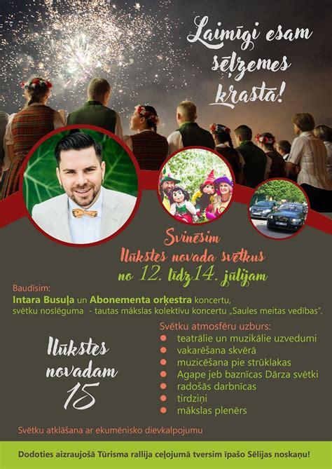 12.-14. jūlijā tiks svinēti Ilūkstes novada svētki ...