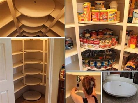 creative ideas diy rotating canned food storage system