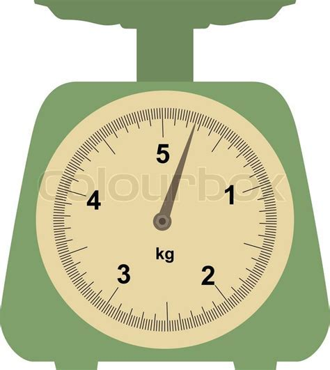 Domestic weigh scales   Stock Vector   Colourbox