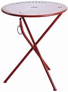 Table Pliante Ronde : table de terrasse pliante ronde rouge ~ Teatrodelosmanantiales.com Idées de Décoration