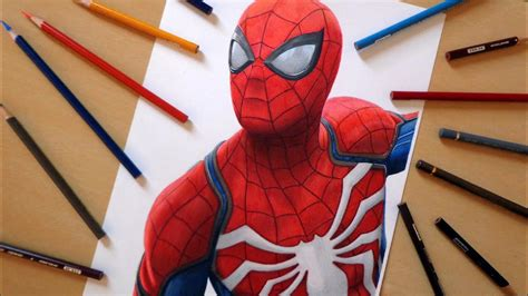 Speed Drawing: Spider Man (Playstation 4 Game) YouTube