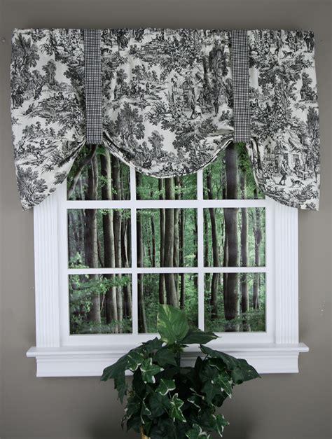 Tie Up Curtains by Park Tie Up Curtain Black Toile Ellis