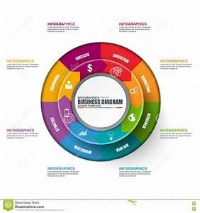 Infographic Circular Diagram Vector Design Template Stock