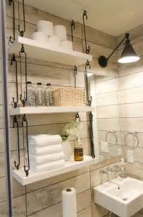 ideas for bathroom shelves 25 best ideas about bathroom shelves on half