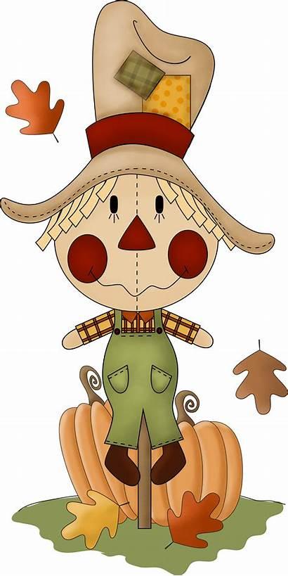 Fall Clip Scarecrow Clipart Scarecrows Autumn November