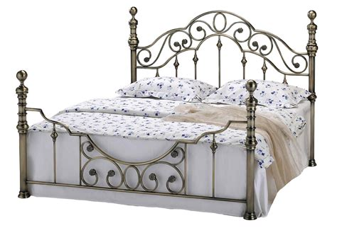 New Luxury Brass Metal Bed Frame Victorian Antiqued Shabby