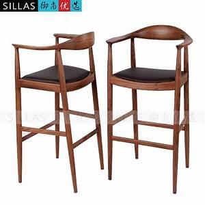 Chaise De Bar Haute : kennedy noyer meubles en bois chaise longue tabouret de bar bar chaise haute chaises tabourets ~ Teatrodelosmanantiales.com Idées de Décoration