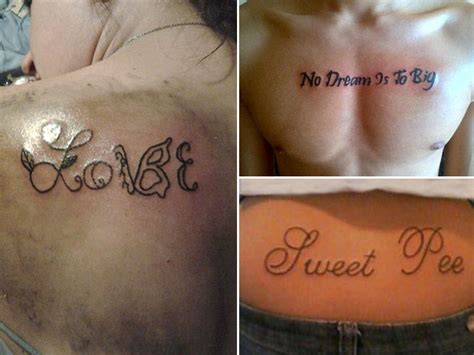 misspelled tattoos permanent  hilarious