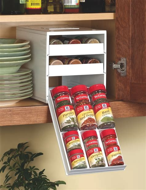 spice rack organizer for cabinet new spicestack spice rack helps not so organized cooks