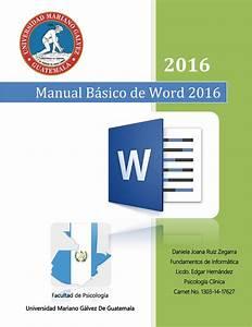 Manual B U00e1sico De Word 2016 By Daniela