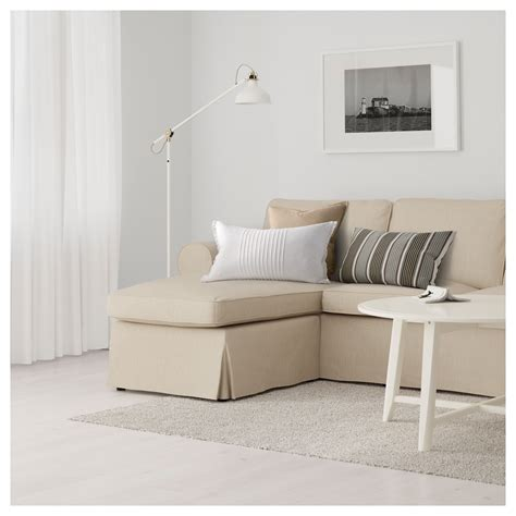 ektorp two seat sofa and chaise longue nordvalla beige ikea