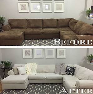 diy sectional sofa cover home decorating trends homedit With sectional sofa slipcovers diy