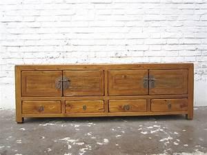 Tv Kommode Vintage : asien lowboard tv kommode hellbraun vintage style ~ Orissabook.com Haus und Dekorationen