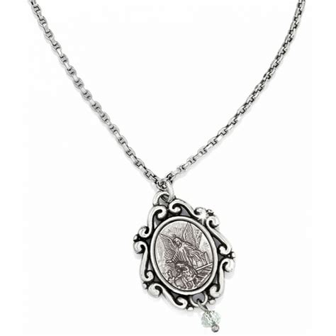brighton silver angel love necklace