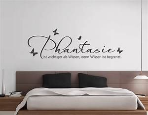 Bilder Für Schlafzimmer Wand : wandtattoo phantasie ist wichtiger als w707 schlafzimmer wandsticker ebay ~ Sanjose-hotels-ca.com Haus und Dekorationen