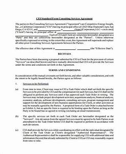 standard consulting agreement simple consulting agreement With standard consulting agreement template