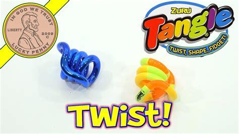 tangle classic metallic fidget toy twist shape