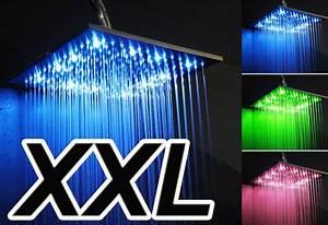 Led Bilder Xxl : luxus led xxl regenbrause aus edelstahl duschkopf kopfbrause regendusche eckig ~ Whattoseeinmadrid.com Haus und Dekorationen