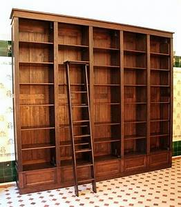 Bücherwand Mit Leiter : b cherwand eiche massivholz mit leiter 300x350x35cm eur picclick de ~ Indierocktalk.com Haus und Dekorationen