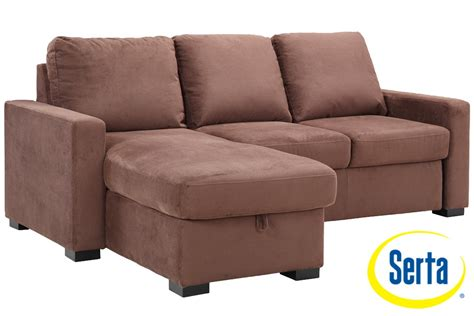 Brown Futon Sofa Sleeper Chester Serta Dream Sleeper The