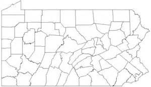 Pennsylvania County Map