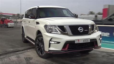 nissan patrol 2017 2017 nissan patrol nismo drag racing will leave you