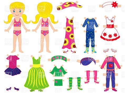 paper doll  set  clothes childish dressing game