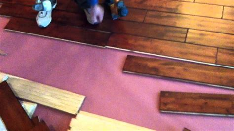 how to nail hardwood flooring exle of how to nail down hand scraped hardwood floors youtube
