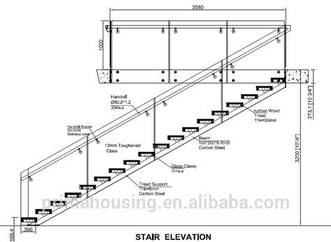 Modern Design Single Stringer Straight Steel Staircase