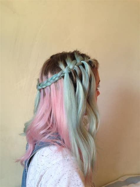 My Little Pony Hair In Pastel Blue And Pink Hair Colors